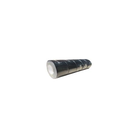 Ruban adhésif PVC noir larg 38 mm long 25m, lot de 5 rouleaux