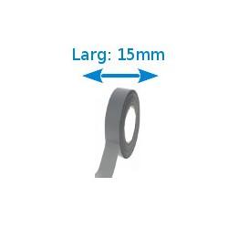 Ruban adhésif PVC gris larg 15 mm long 10 m, lot de 10 rouleaux