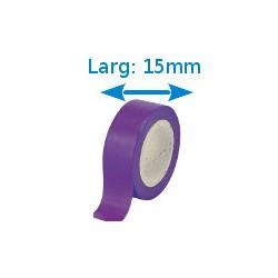 Ruban adhésif PVC violet larg 15 mm long 10 m, lot de 10 rouleaux