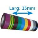 Ruban adhésif isolation PVC Couleurs larg 15 mm long 10 m, lot de 10 rouleaux
