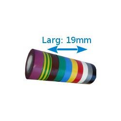 Ruban adhésif PVC couleurs larg 19 mm long 10 m, lot de 10 rouleaux