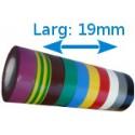 Ruban adhésif isolation PVC Couleurs larg 19 mm long 20 m, lot de 10 rouleaux