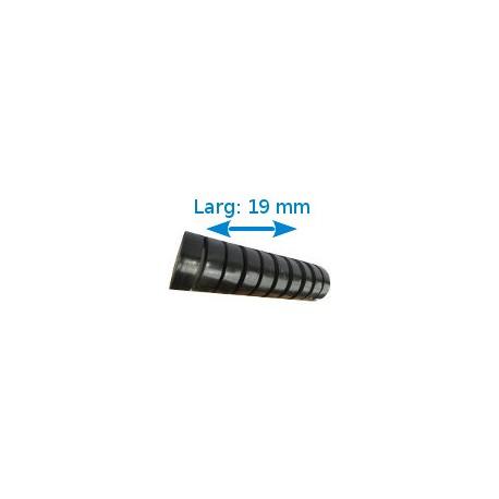 Ruban adhésif PVC noir larg 19 mm long 20 m, lot de 10 rouleaux