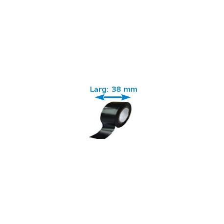 Ruban adhésif PVC noir larg 19 mm long 10 m